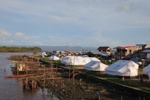 temporary shelters and tents in Basey