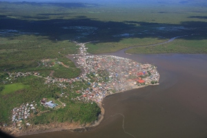 Our first glimpse of Basey from the air, before we land in Tacloban