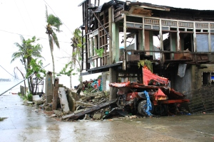 Although the streets and a lot of the rubble has been cleared, the destructive force of Yolanda can still be witnessed all over Basey