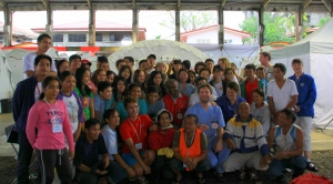 The ICRC hospital team with international delegates and local staff.